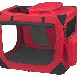 Red Small Generation II Deluxe Portable Soft Crate