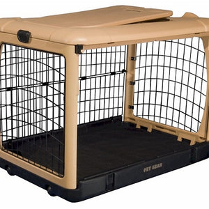 Medium Deluxe Steel Dog Crate With Pad