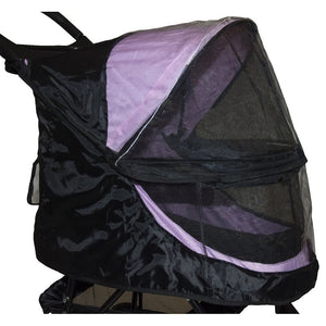 Black Weather Cover For No-Zip Happy Trails Pet Stroller
