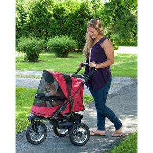 Rugged Red Jogger No-Zip Pet Stroller