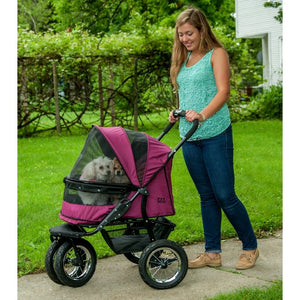 Boysenberry No-Zip Double Pet Stroller