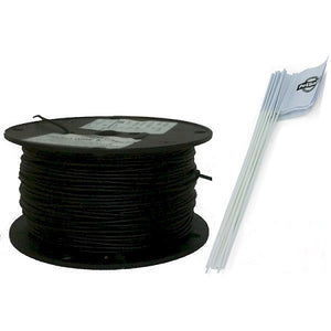 500 Feet Heavy Duty Essential Pet In-Ground Fence Wire and Flag Kit