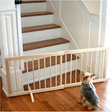 Walnut Step Over Pet Gate