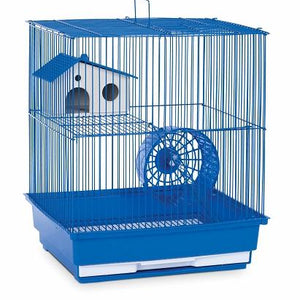 Blue Two Storey Hamster & Gerbil Cage