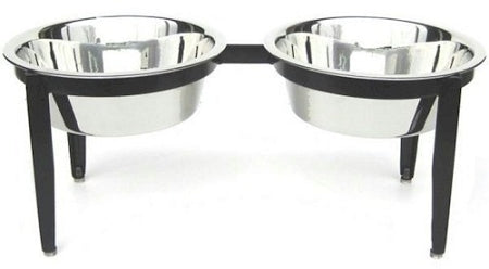 Small Visions Double Elevated Dog Bowl