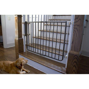 Black Wrought Iron Decor Dog Gate