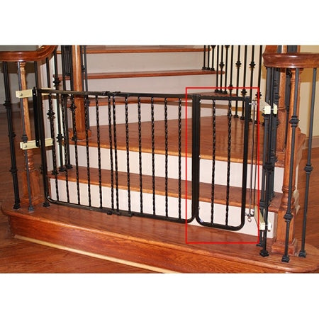 Black Wrought Iron Decor Gate Extension