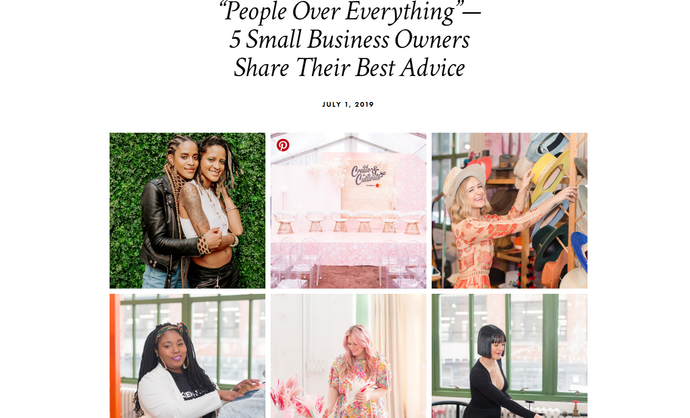 YES I AM Clothing is featured in Create & Cultivate's Advice Column!