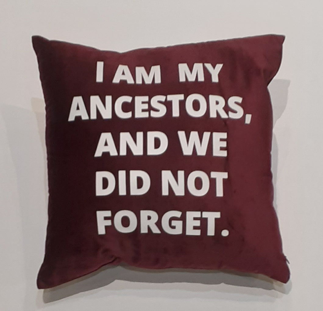 Never Forget Pillow - YESIAMINC