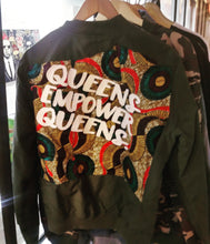 QUEENS EMPOWER QUEENS - CUT AND SEW FALL JACKET - YESIAMINC