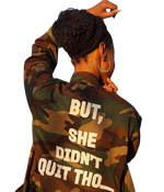 BUT SHE DIDN'T QUIT THO....ARMY JACKET - YESIAMINC