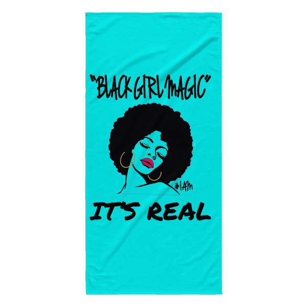 Black Girl Magic Beach Towel - YESIAMINC