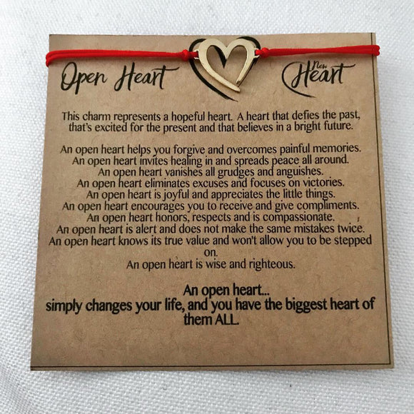 Open Heart Thread Bracelet