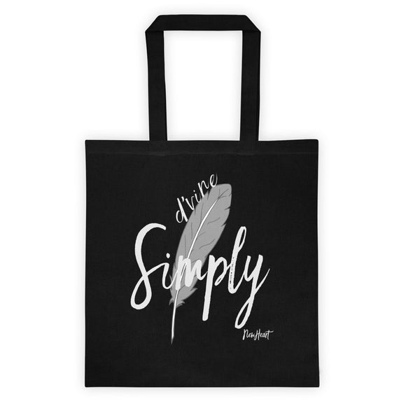 Simply D'vine Blk Tote bag