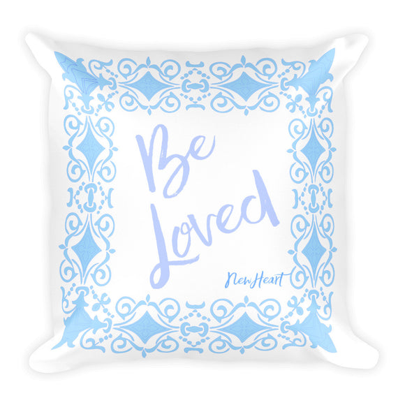 Be-Loved-Blue Pillow