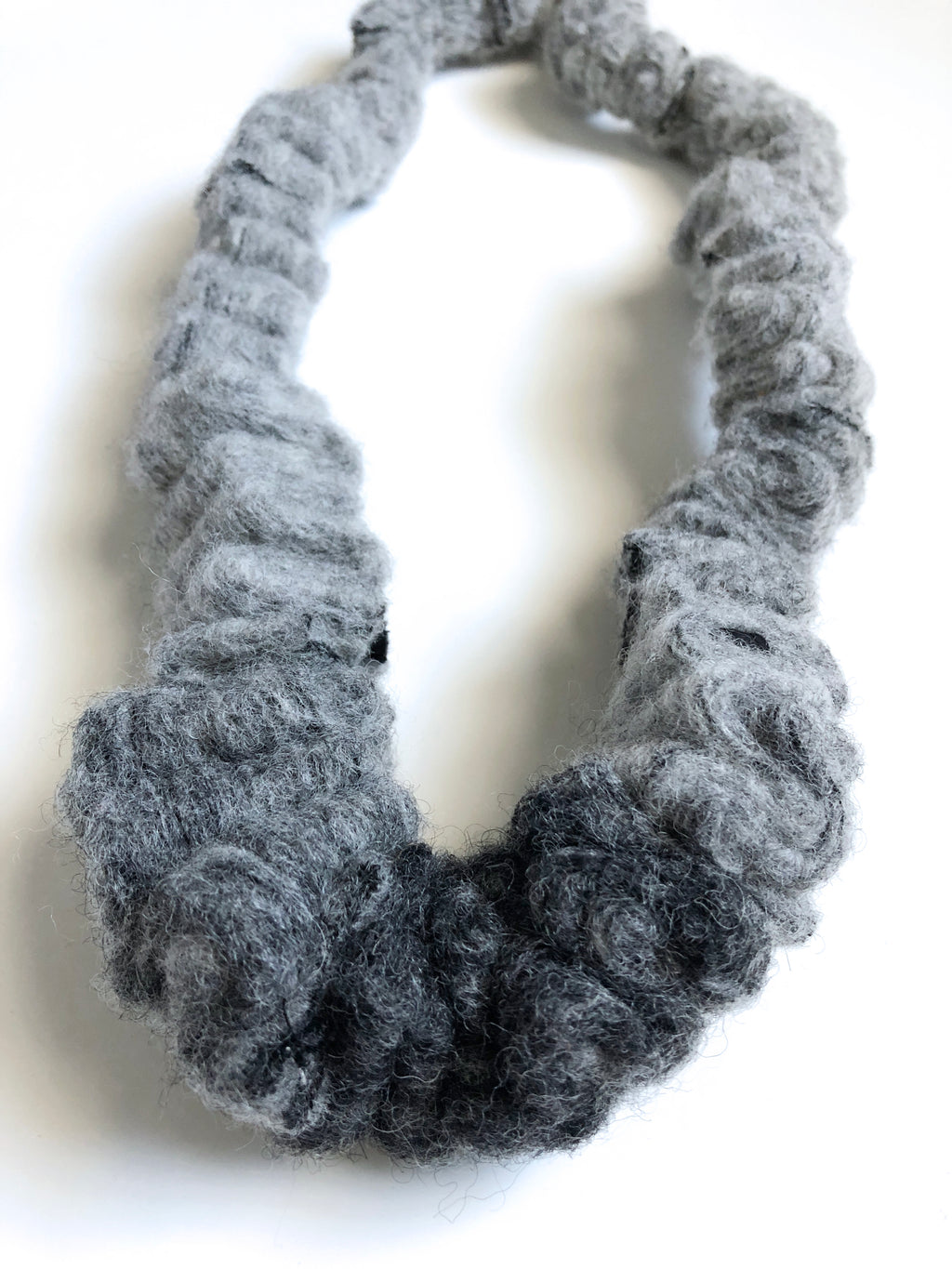 Zero Waste Necklace - Wool Gradient Chunk