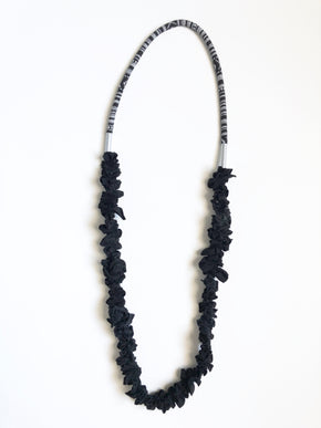 Zero Waste Necklace - Black Pattern Cord