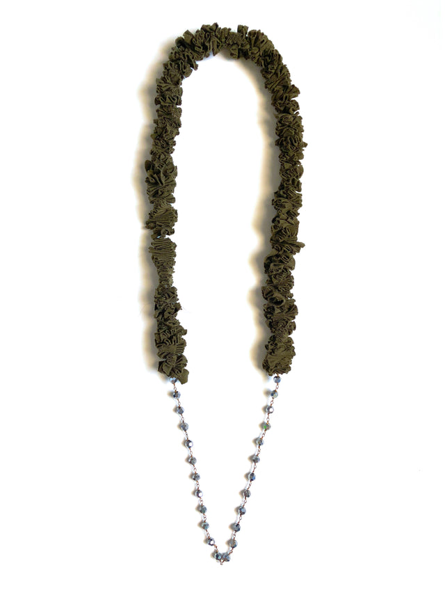 Zero Waste Necklace - Caper Pewter Beads