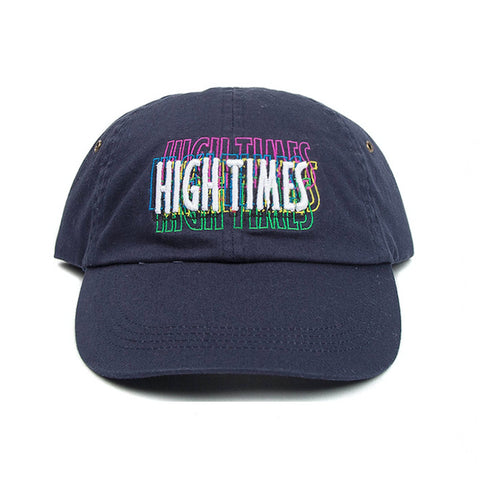 INFAMOUS HIGH TIMES LOGO CAP - NAVY