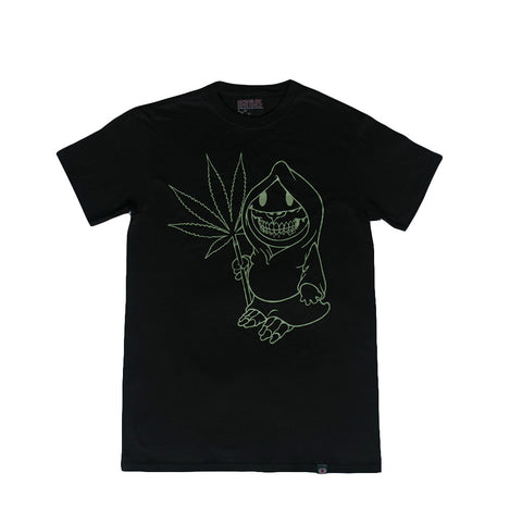 RON ENGLISH REAPER TEE - BLACK / GLOW IN THE DARK