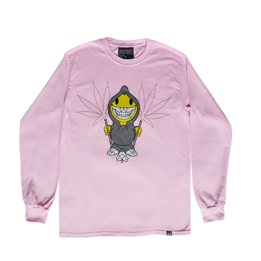 RON ENGLISH REAPER LONG SLEEVE TEE - PINK