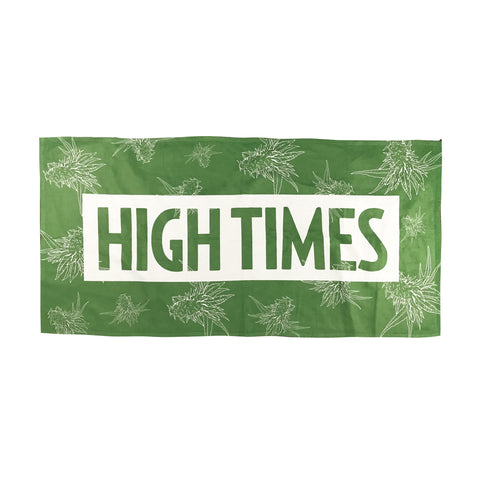 Green Crack Beach Towel