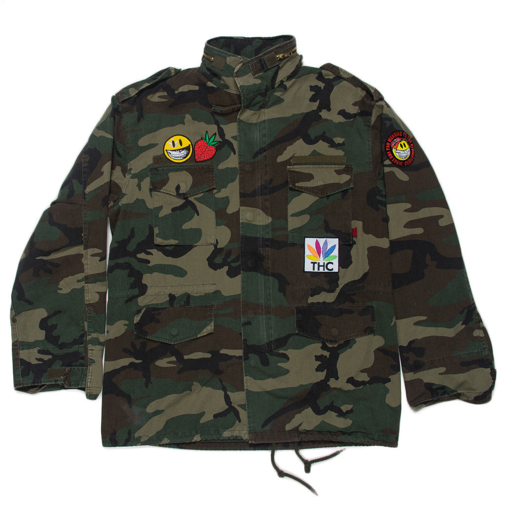 RON ENGLISH VINTAGE CAMO MILITARY JACKET