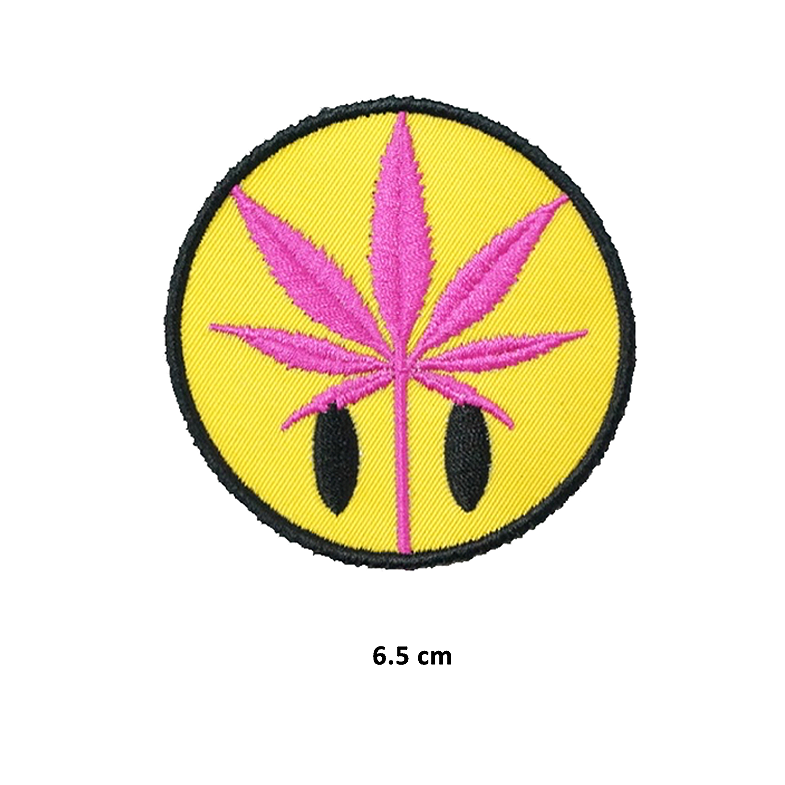 Ron English Weed Smile Patch