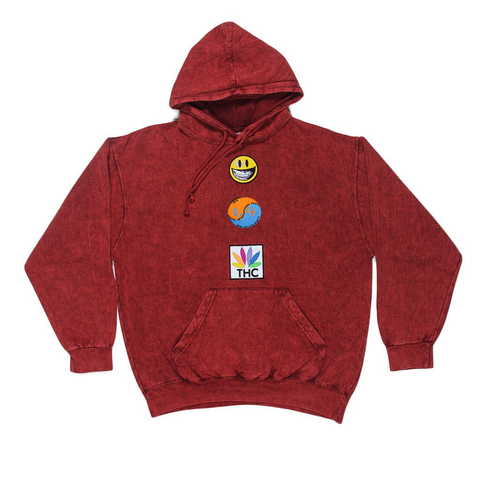 RON ENGLISH ROLLING PAPERS HOODIE - FIRE BRICK RED