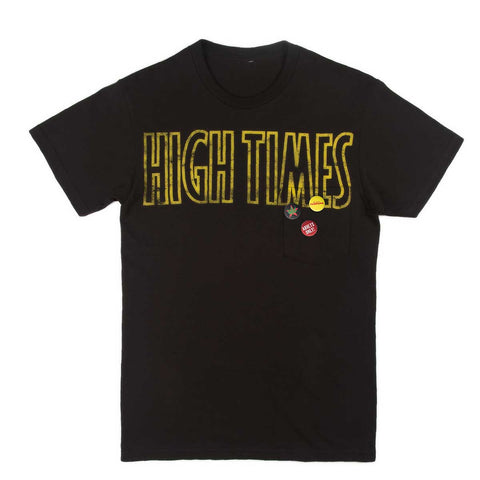 HIGH TIMES REEFER MADNESS PIN TEE - BLACK