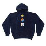 RON ENGLISH ROLLING PAPERS HOODIE - NIGHT OCEAN BLUE