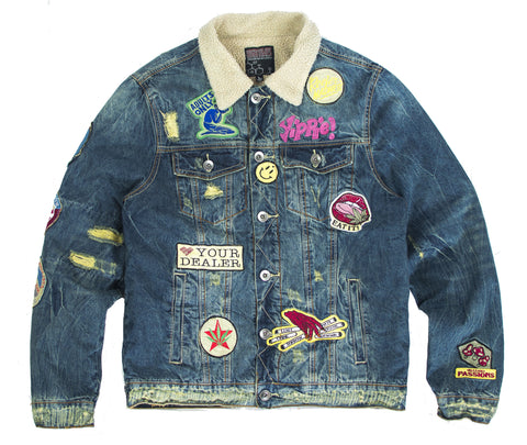ADULTS ONLY! SHERPA DENIM JACKET