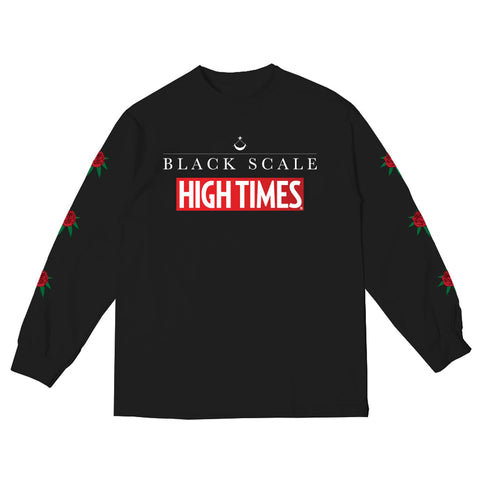 BLACK SCALE x HIGH TIMES FLOWER LS TEE