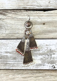 Single Boho Statement Tribal Gypsy Leather Earring