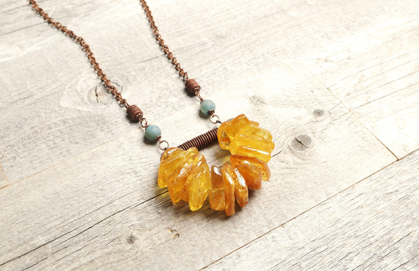 African Amber Boho Gypsy Tribal Ethnic Agate Necklace