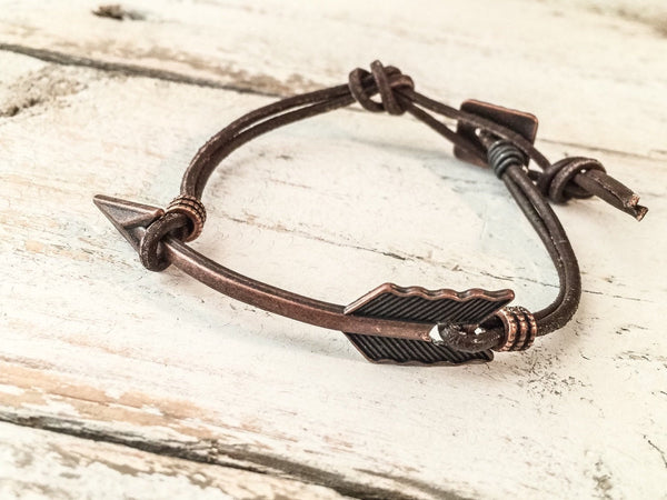 Boho Arrow Leather Bracelet B029.1