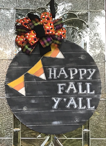 Happy Fall Y'all Candy Corn