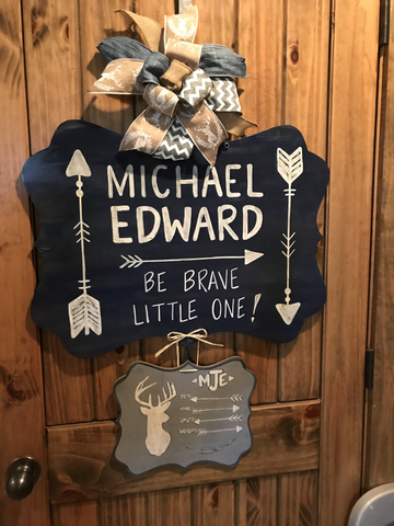 Be Brave Baby Door Hanger