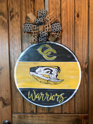Cherokee County Warriors Door Hanger