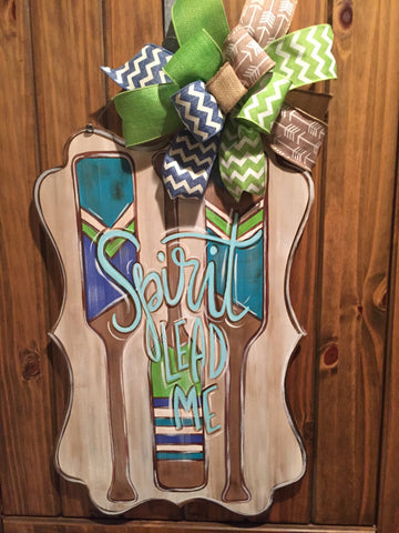 Spirit Lead Me door hanger with paddles