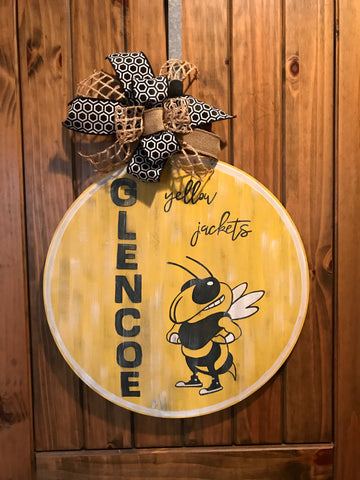 Glencoe Yellow Jackets Door Hanger