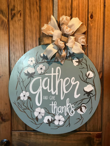 Gather & Give Thanks- Cotton