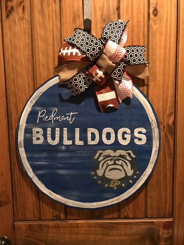 Piedmont Bulldogs Door Hanger