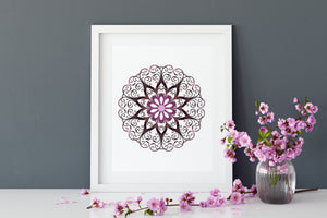 Purple Printable Amethyst Mandala Wall Art or Crystal Grid Print Digital Download Gemstone Set of 11 Boho Decor