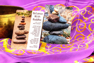 Balance with Buddha Oracle Deck 54 Cards to Balance Your Life and Emotions - Made in the USA - Same Day Shipping