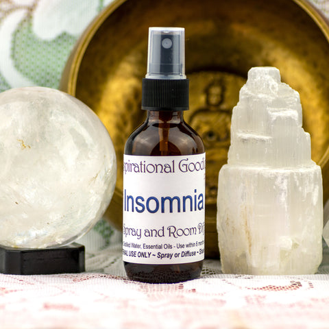 Insomnia Aromatherapy Crystal Elixir and Essential Oil Fusion