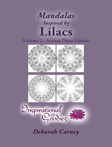 PDF Download: Mandalas Inspired by Lilacs – Volume 1: Adult Coloring Book – Inspired by Nature, Brought to life by you