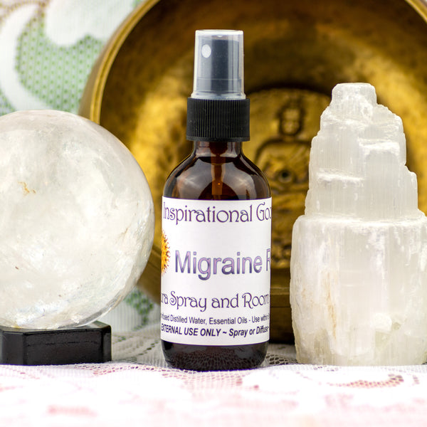 Migraine Crystal Essence and Essential Oil Fusion Spray