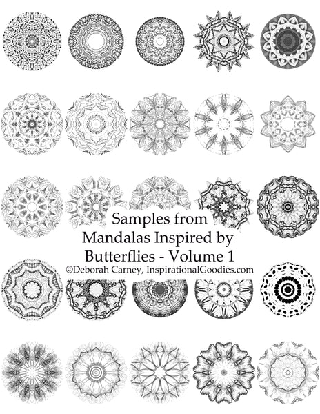Mandalas Inspired by Butterflies – Volume 1: Adult Coloring Book – Inspired by Nature, Brought to life by you