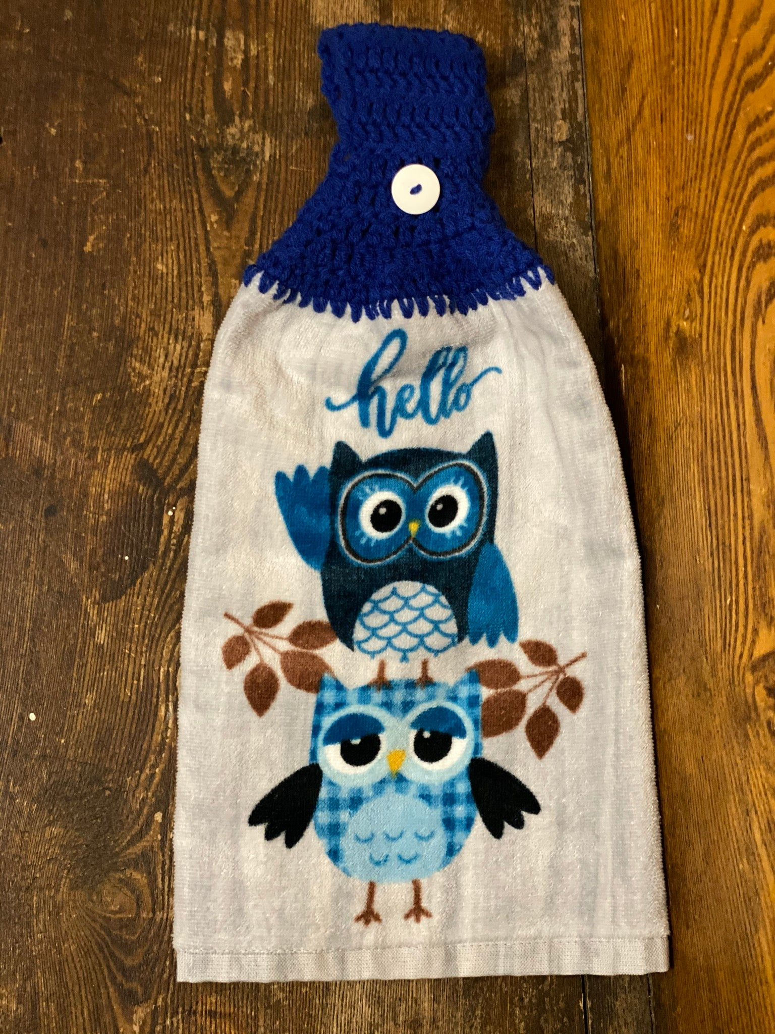 Towel Kitchen Owl Hello